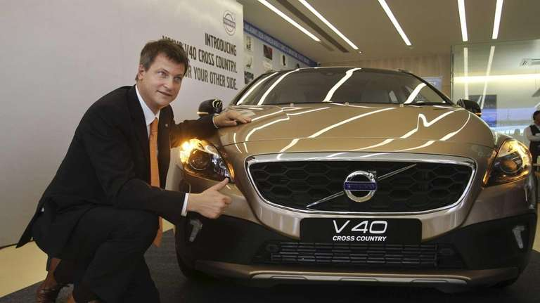 Volvo Auto managing director Tomas Ernberg poses for