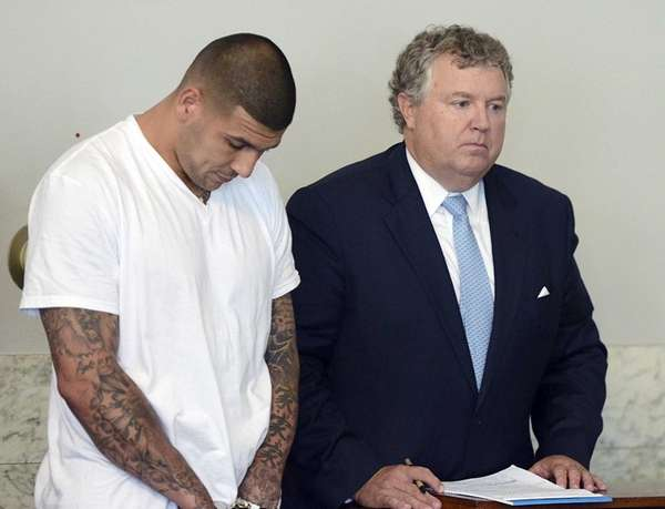 Former New England Patriots tight end Aaron Hernandez,