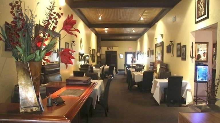 This is the dining room of Athens Grill