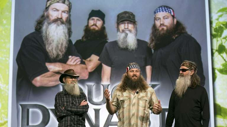 From left, Si Robertson, Willie Robertson and Phil
