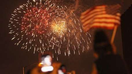 Macy's fireworks last year. (Getty Images)
