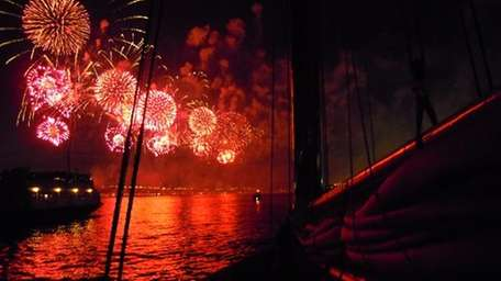 Take in the fireworks aboard a Classic Harbor