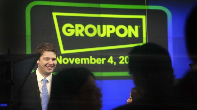 Andrew Mason, shown at Groupon's Nasdaq IPO in