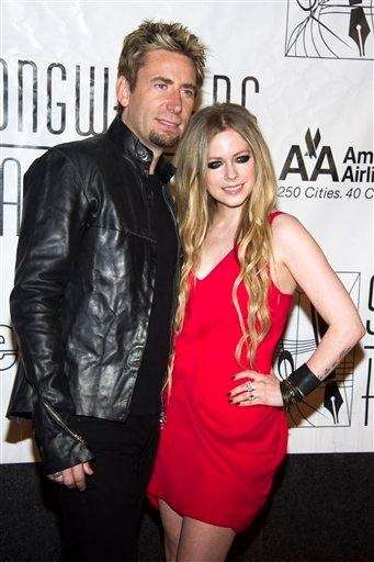Chad Kroeger and Avril Lavigne attend the Songwriters