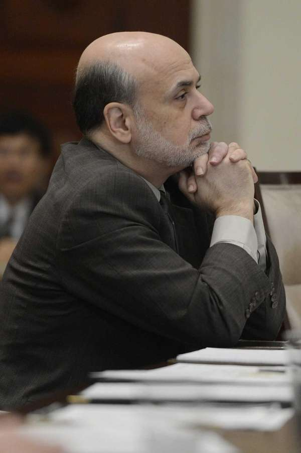 Fed Chairman Ben Bernanke, at an open meeting