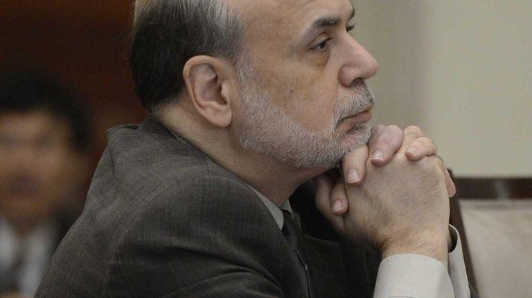 Fed Chairman Ben Bernanke, at an open meeting