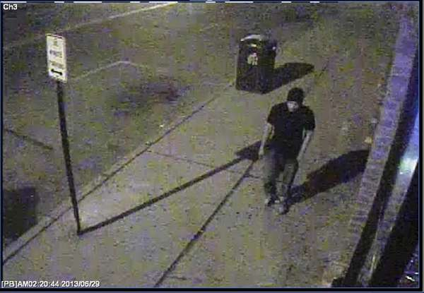 Police released a surveillance image of a suspect