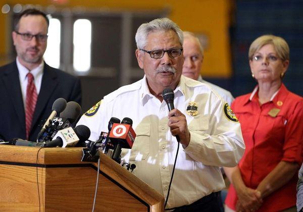 Prescott, Arizona Fire Chief Dan Fraijo speaks at