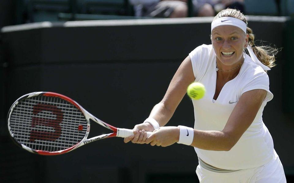Petra Kvitova of the Czech Republic plays a