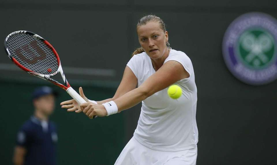 Petra Kvitova of Czech Republic plays a return