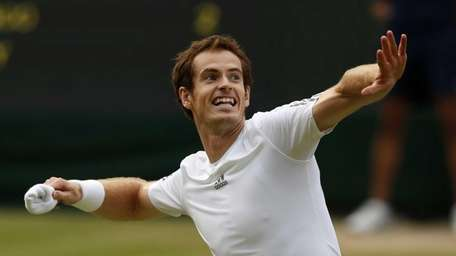 Andy Murray throws his wristband to the crowd
