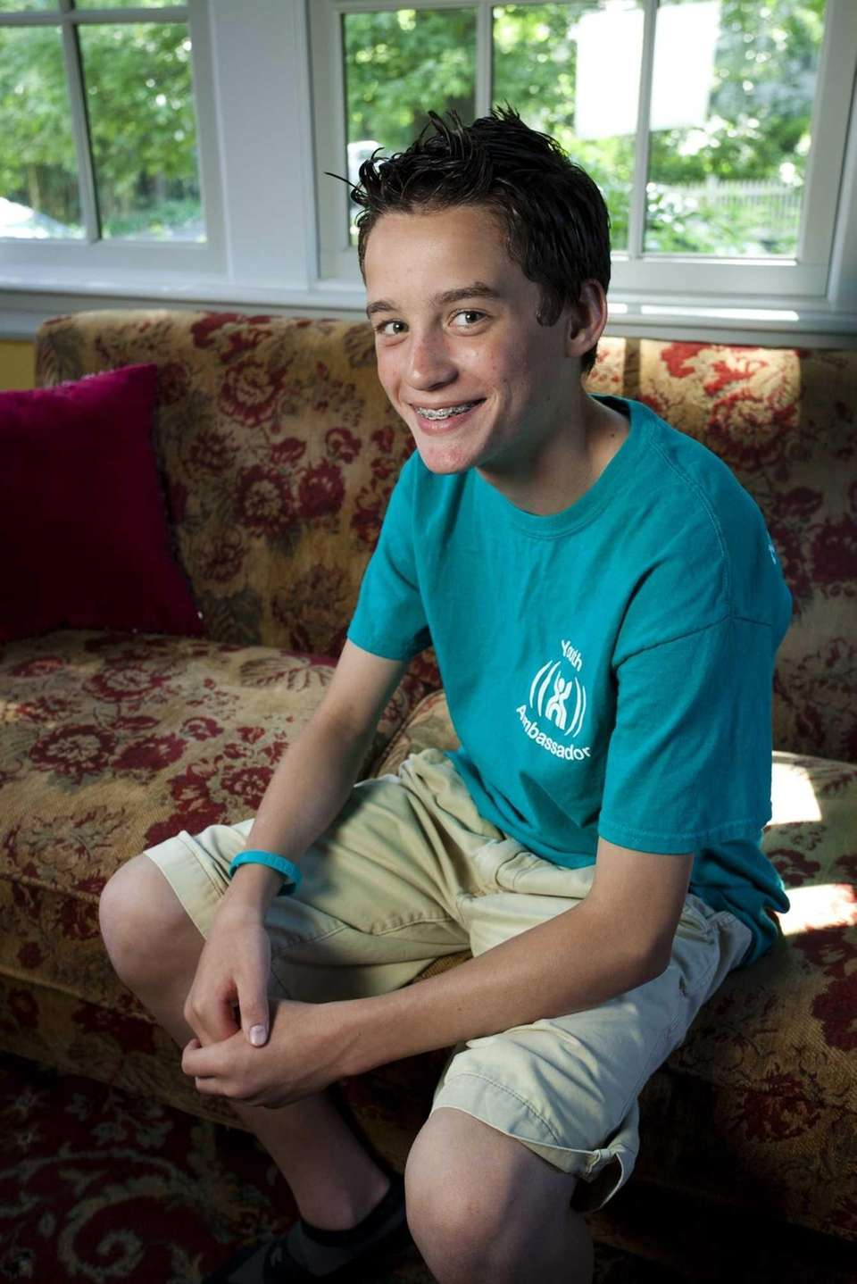 Dylan Brady, 14, of Sea Cliff is a