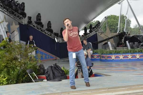 Scotty McCreery performs during a rehearsal for the