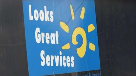Trucks with the Looks Great Services logo are