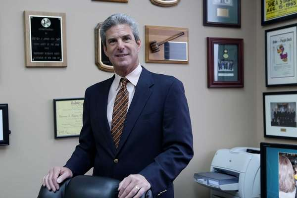Insurance agent Steven Spiro at his office in