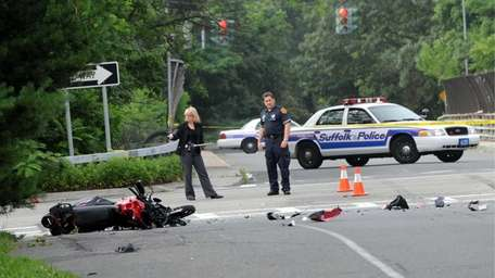 Authorities at the scene of a fatal crash