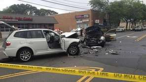 Police investigate a fatal accident on Merrick Road