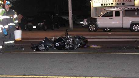 Suffolk County police are investigating a crash between