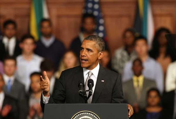 President Barack Obama speaks at the University of