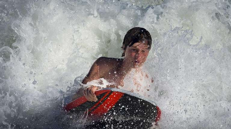 Sean Gillam, 13, finds enjoyment while riding his