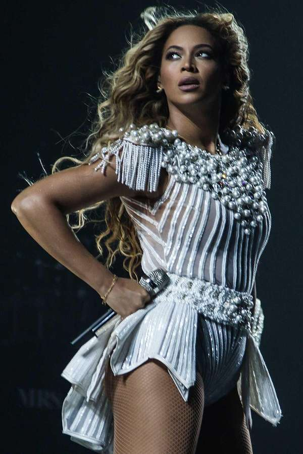 Singer Beyonce performs on her quot;Mrs. Carter Show
