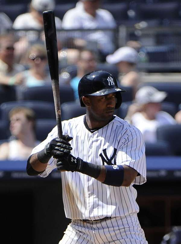 Eduardo Nunez of the Yankees bats during the