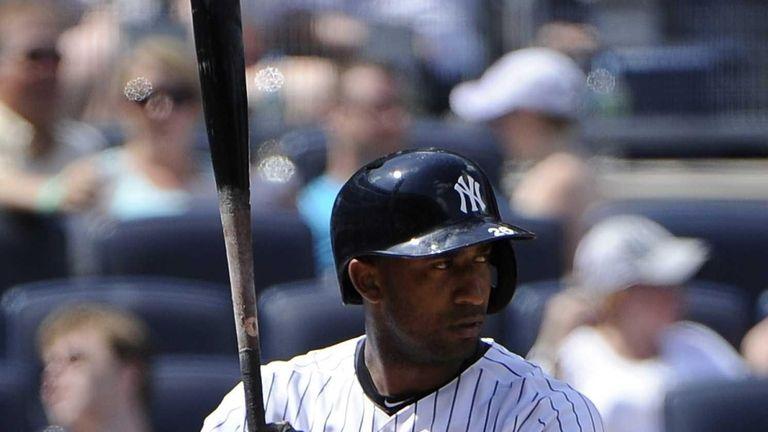 Eduardo Nunez of the Yankees bats during the