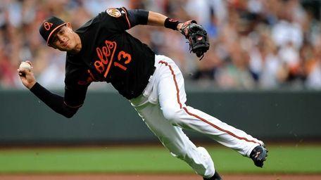 Third basemen Manny Machado of the Baltimore Orioles