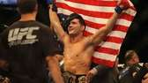 Chris Weidman celebrates after defeating Anderson Silva. (July
