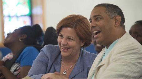 Christine Quinn and Councilman Ruben Wills at Maranatha