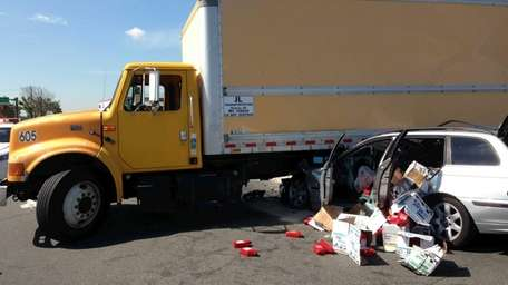 An accident involving a truck and a car