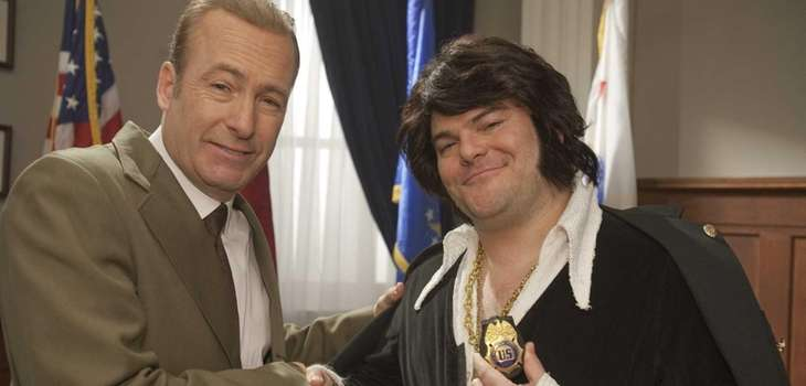 From left, Bob Odenkirk as President Richard Nixon