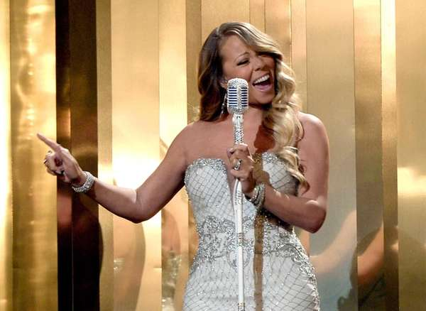 Mariah Carey performs during the 2013 BET Awards