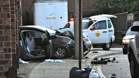 The scene of an early morning crash Tuesday