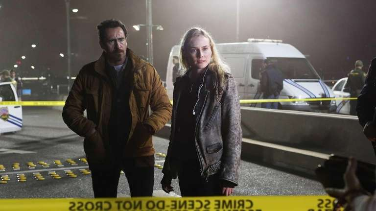 Demian Bichir, left, as Marco Ruiz and Diane