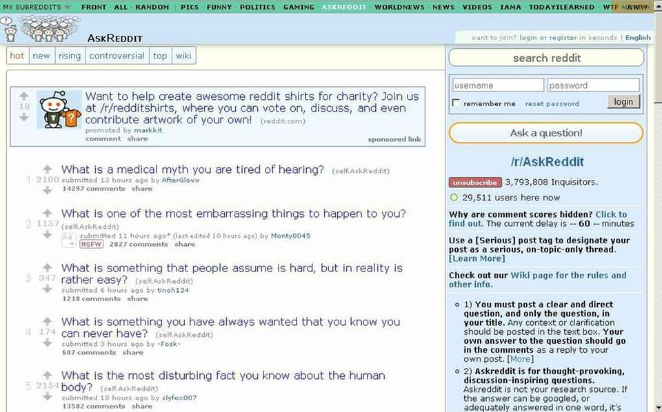 Reddit is a forum where users can interact