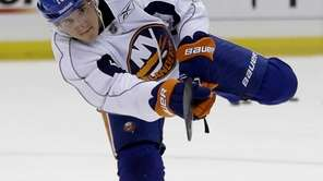 Ryan Strome participates in drills during Islanders minicamp.