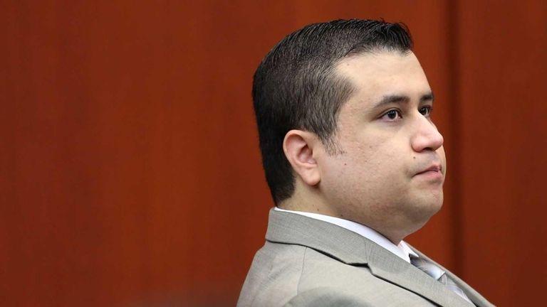 George Zimmerman listens at his trial in Seminole