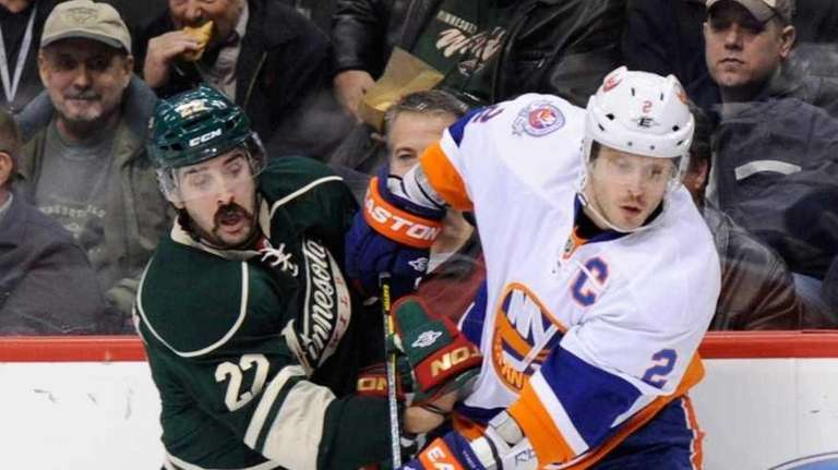 Cal Clutterbuck of the Minnesota Wild and Mark