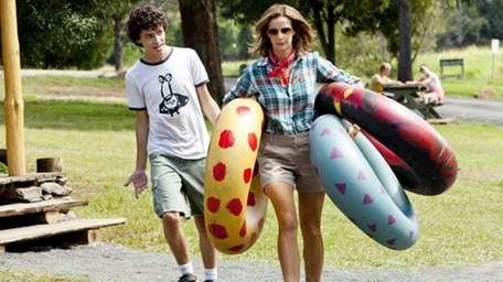 Charles Grounds and Rachel Griffiths have some fun