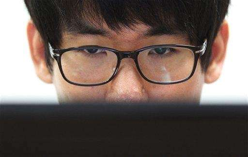 Simon Choi, a South Korean cybersecurity researcher, watches