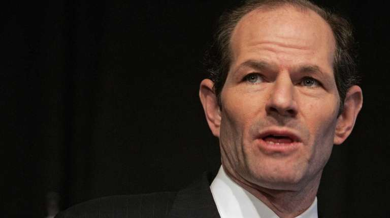 Then-Gov. Eliot Spitzer presents his 2008-09 state budget