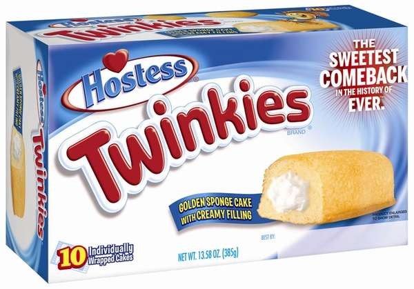 "The new Twinkies box bears the tagline, ""The"