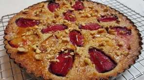Frangipane, a rich batter made with ground nuts,