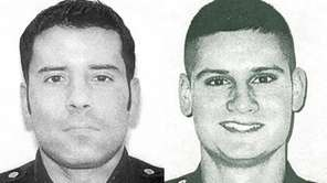 Left, Officer Anthony DiLeonardo, and right, Officer Edward