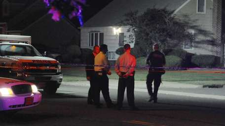 The Nassau County police investigate a stabbing of