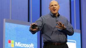 Microsoft chief executive Steve Ballmer speaks at a