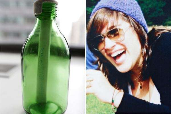 A dozen years ago, Sidonie Fery wrote a message on a scrap of paper, placed it in a ginger-ale bottle and launched it into the waters off Long Island. Now, that bottle has been discovered amid a beach strewn with debris from superstorm Sandy.