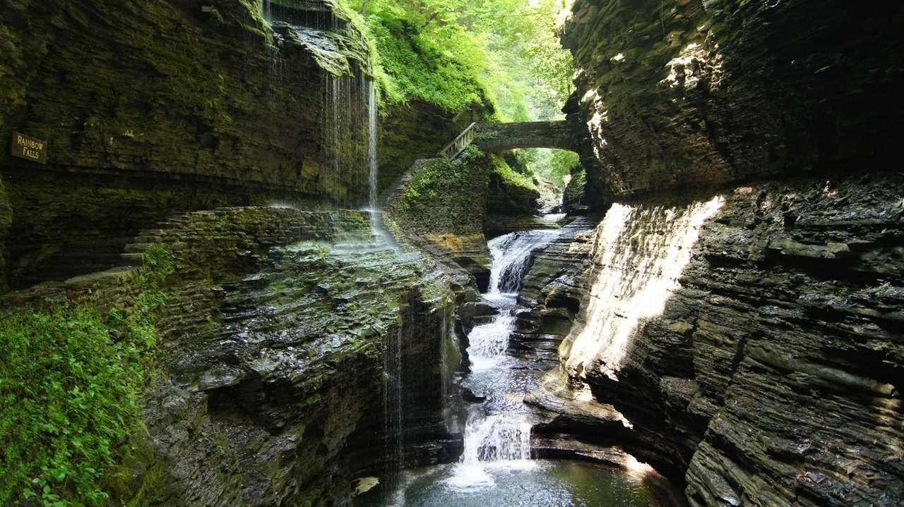 Watkins Glen State Park features impressive gorges and