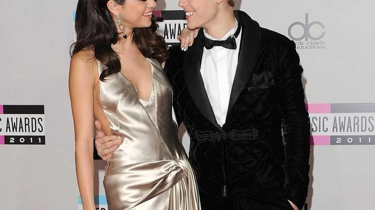 Selena Gomez and Justin Bieber arrive at the